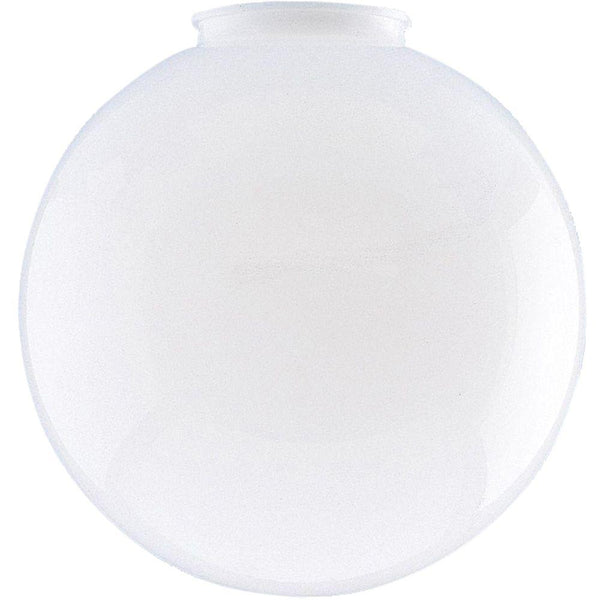"Westinghouse 8186900 White Polycarbonate Globe Light Shade, 6"" Dia"