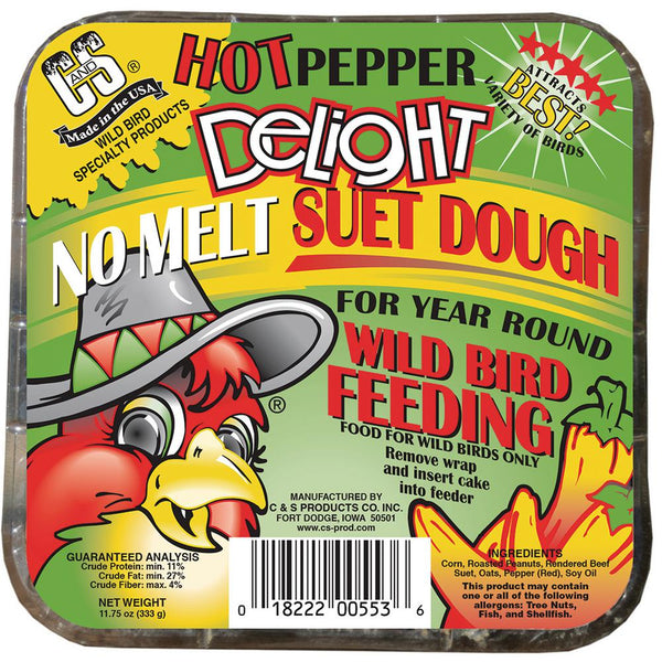 C&S CS12553 Hot Pepper Delight No Melt Suet Dough Cake, 11.75 Oz