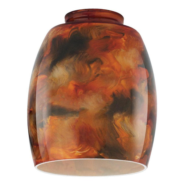 Westinghouse 8131100 Handblown Tapered Drum Shape Fire Pit Design Glass Shade