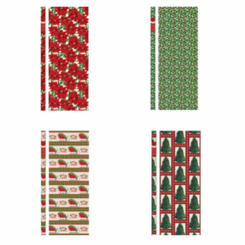 "Expressive Design CW4030A22 Traditional Roll Wrap, Assorted, 30"" x 192"""