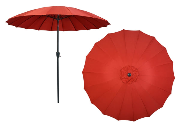 Seasonal Trends 69866 Wind Resistant Patio Umbrella with Aluminum Pole 9', Red