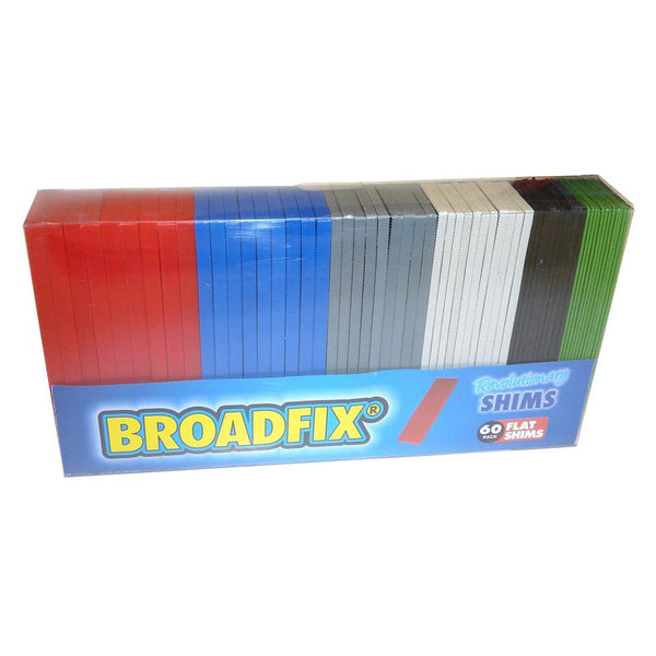 "Broadfix FS60A-US Plastic Flat Shim, Assorted Colors, 1-1/8"" x 4"", 60-Piece"