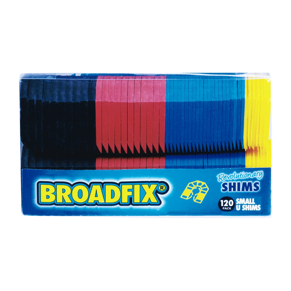 "Broadfix SMU120A-US Plastic Small U-Shape Shim, 1-3/4"" x 2-1/8"", 120-Piece"