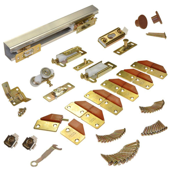 Johnson Hardware 100FD484 Track & Hardware Set for 4-Panel Bi-Fold Doors, 48""