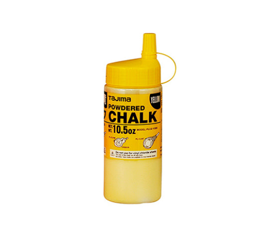 Tajima PLC2Y300 Ultra-Fine Snap-Line Micro Powdered Chalk, Yellow, 10.5 Oz