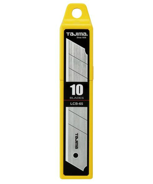 "Tajima LCB65 Rock Hard 7-Point Snap Off Knife Blade 1"", SK-120 Steel, 10-Count"