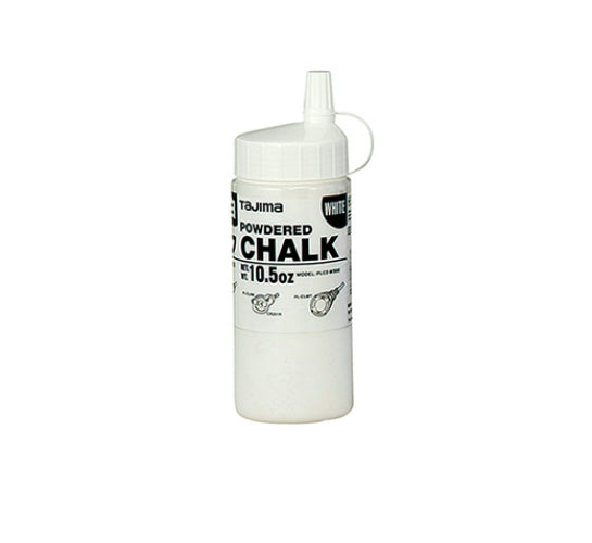Tajima PLC2W300 Ultra-Fine Snap-Line Micro Powdered Chalk, White, 10.5 Oz