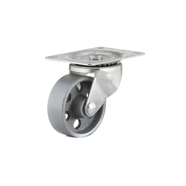 Richelieu F25049 Industrial Sintered Iron Wheel Swivel Plate Caster, 209 Lb, 3""