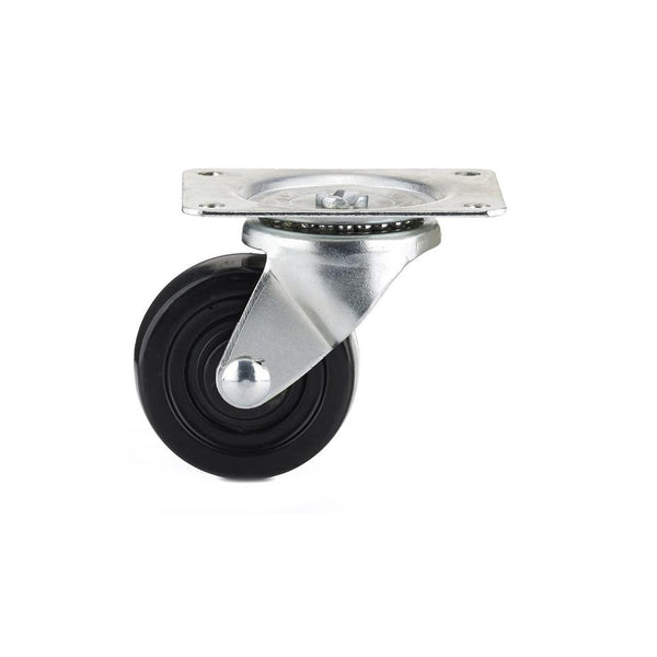Richelieu F25083 General-Duty Rubber Wheel Swivel Plate Caster, 176 Lb, 2-1/2""