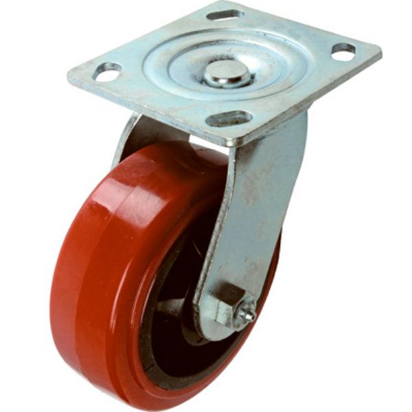 Richelieu F22105 Polyurethane Mold-On Swivel Caster, 661 Lb Load, 5""