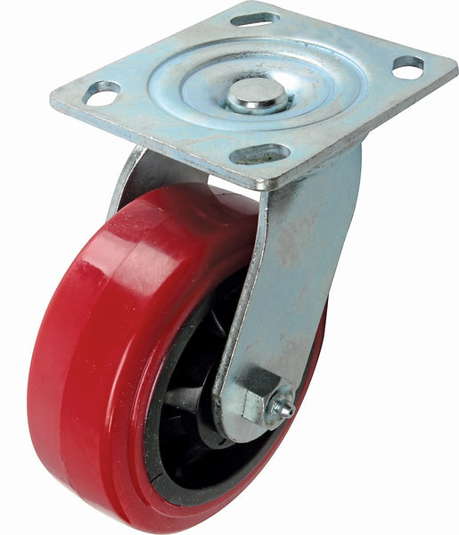Richelieu F22104 Polyurethane Mold-On Swivel Caster, 595 Lb Load, 6""