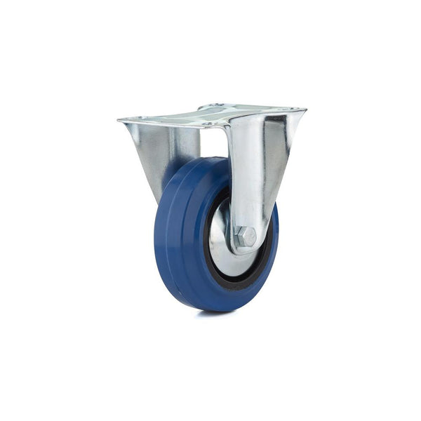 Richelieu F08334 Blue Elastic Rubber Wheel Swivel Caster, 132 Lb Load, 4""