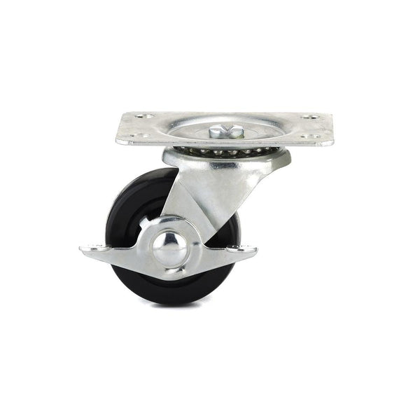 Richelieu F25160 Rubber Wheel Swivel Plate Caster with Brake, 176 Lb, 2-1/2""