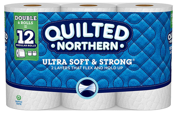 Quilted Northern 94271 Ultra Soft & Strong Double-Roll Toilet Paper, 6-Count