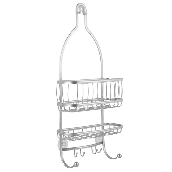"InterDesign 61976 York Lyra Bathroom Shower Caddy, Silver, 10"" x 4"" x 22"""