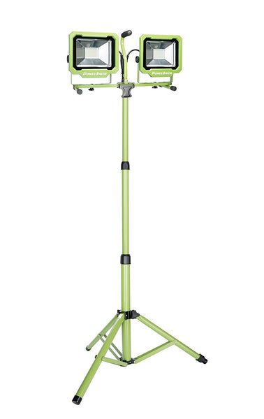 PowerSmith PWL2172TS Dual-Head LED Work Light with Adjustable Tripod, 7500 Lum