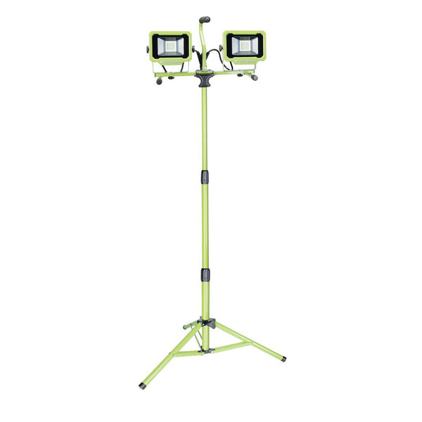 PowerSmith PWL2148TS Dual-Head LED Work Light with Adjustable Tripod, 5000 Lum