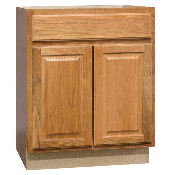 Continental Cabinets KVSB24-MO Hamilton Vanity Sink Base, Medium Oak, 24""