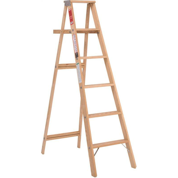 Michigan 110004 Household-Duty Type III Wood Step Ladder, 200 Lb Load, 4'