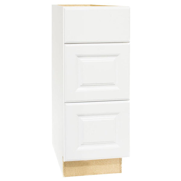 Continental Cabinets KVDB12-SW Hamilton Vanity Drawer Base, White Thermofoil, 24""