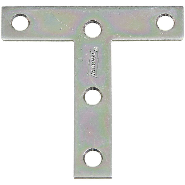 "National Hardware 266429 Steel T-Plates, Zinc Plated, 3"" x 3"""