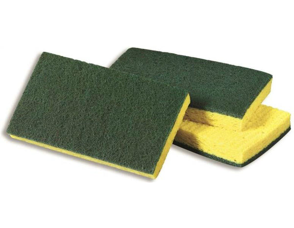 "Scotch-Brite 74 Medium-Duty Scrubbing Sponge, Yellow/Green, 6.1"" x 3.6"""