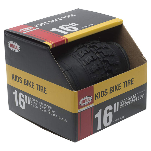 "Bell 7091031 Kids Bike Tire, Black, 16"", Fits 1.75"" - 2.25"""