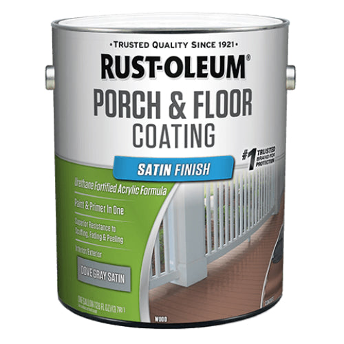 Rust-Oleum 320417 Porch & Floor Coating, Satin, Dove Gray,  Low VOC, 1-Gallon