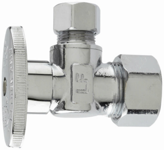 "Kenny 2053PCLF Lead Free Quarter-Turn Angle Valve, 1/2"" x 3/8"""