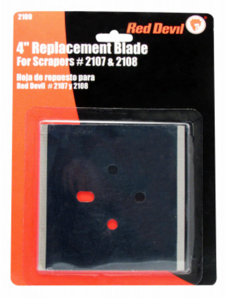 Red Devil 2109 Double Edge Replacement Scraper Blade, 4""