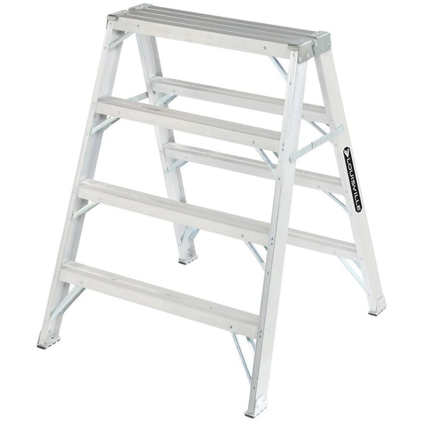 Louisville L-2032-04 Type IA Duty Aluminium Sawhorse Ladder, 4', 300 Lb Load