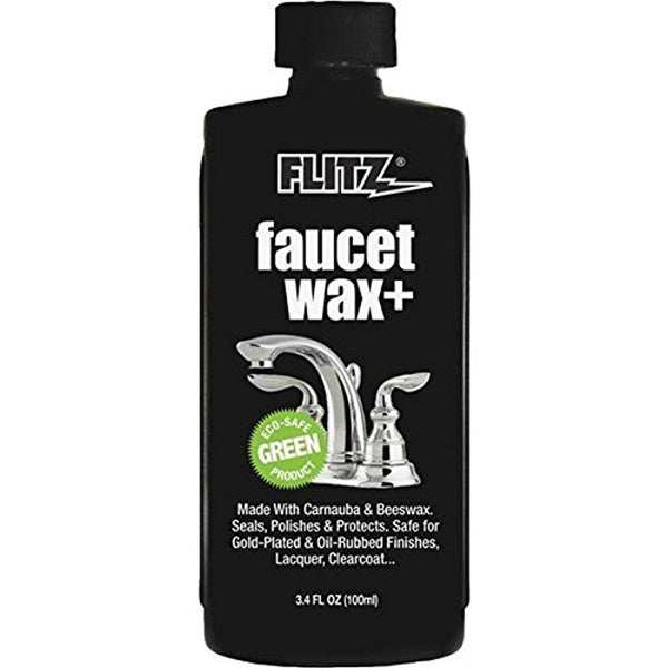 Flitz PW-02634 Faucet Wax Plus, 3.4 Oz