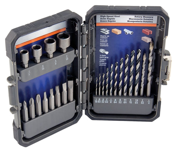 Vulcan 870920OR Drill Bit Set, 24-Pieces