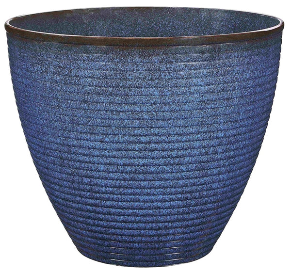 "Landscapers Select PT-S007 Wave Resin Planter, 17.75"" x 15"""