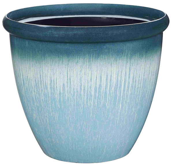 Landscapers Select PT-S010 Egg Rim Resin Planter, 14.75""