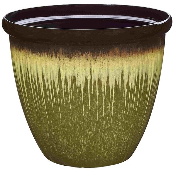 Landscapers Select PT-S011 Egg Rim Resin Planter, 17.75""