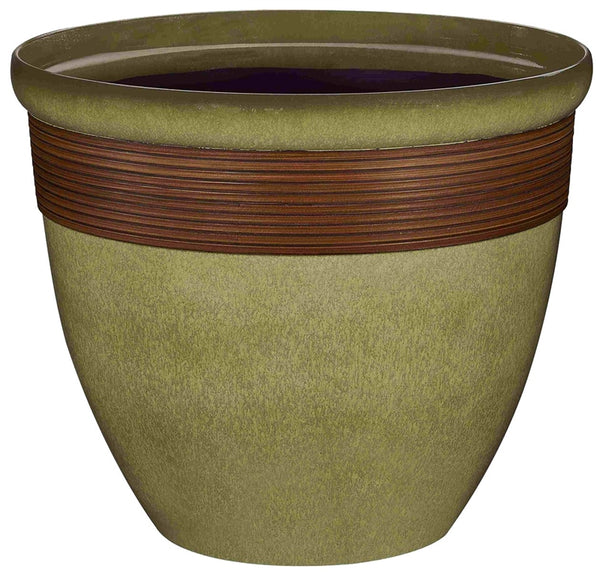 Landscapers Select PT-S015 Tall Wave Resin Planter, 14.75""