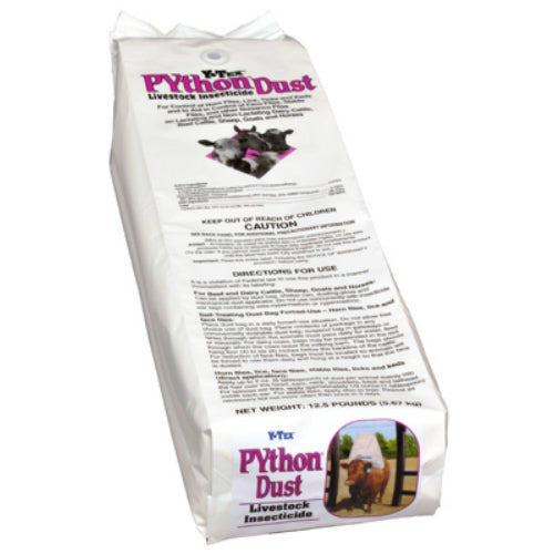 Y-Tex 0820007 PYthon Dust Livestock Insecticide Refill Sleeve, 12.5 Lb
