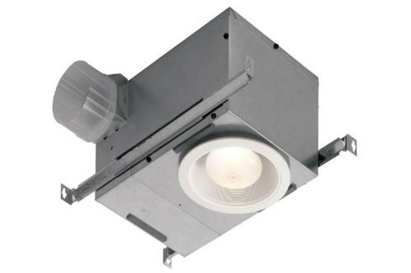 Broan 744 Recessed Bath Fan & Light, 70 CFM, 1.5 Sones