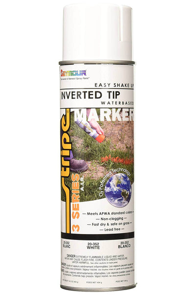Seymour 20-352 Stripe 3-Series Water Based Marking Spray Paint, White, 16 Oz