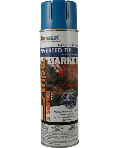 Seymour 20-353 Stripe 3-Series Marking Spray Paint, Precaution Blue, 16 Oz