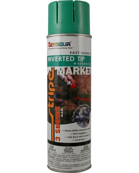 Seymour 20-355 Stripe 3-Series Marking Spray Paint, Safety Green, 16 Oz