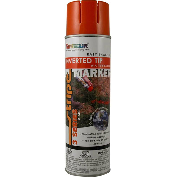 Seymour 20-370 Stripe 3-Series Marking Spray Paint, Alert Orange, 16 Oz