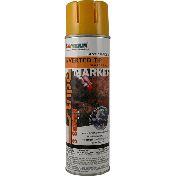 Seymour 20-378 Stripe 3-Series Marking Spray Paint, Utility Yellow, 16 Oz