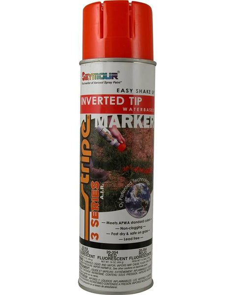 Seymour 20-354 Stripe 3-Series Marking Spray Paint, Fluorescent Red, 16 Oz