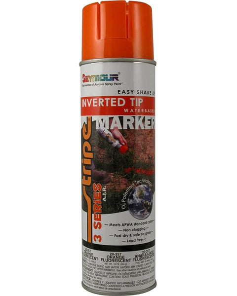 Seymour 20-357 Stripe 3-Series Marking Spray Paint, Fluorescent Orange, 16 Oz