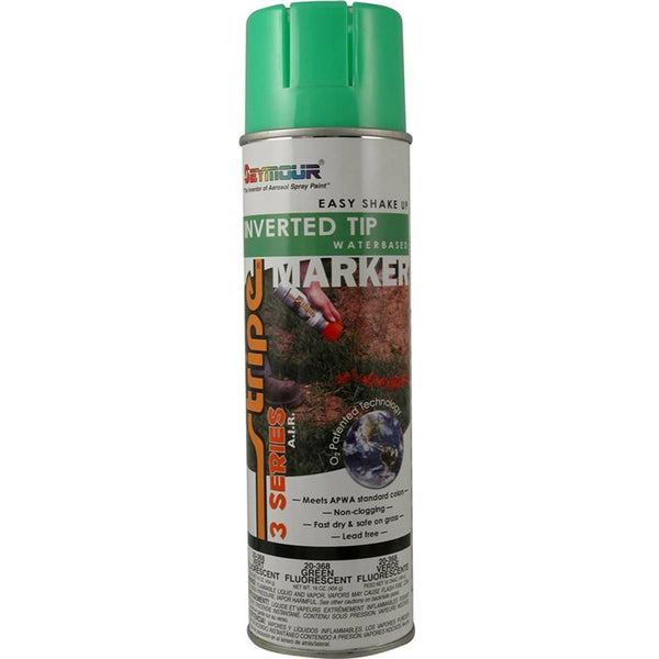 Seymour 20-368 Stripe 3-Series Marking Spray Paint, Fluorescent Green, 16 Oz