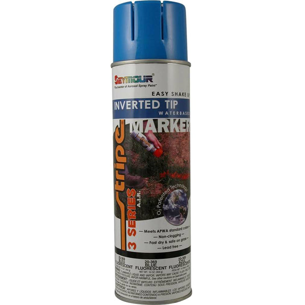 Seymour 20-369 Stripe 3-Series Marking Spray Paint, Fluorescent Blue, 16 Oz
