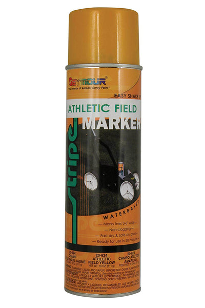Seymour 20-624 Stripe Athletic Field Marking Spray Paint, Yellow, 18 Oz