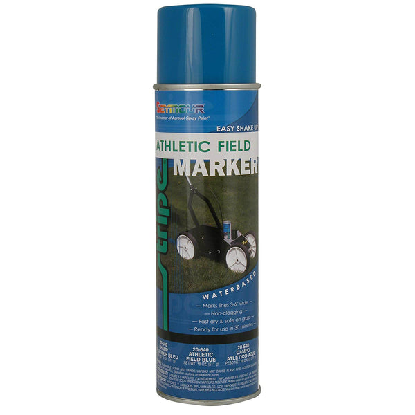 Seymour 20-640 Stripe Athletic Field Marking Spray Paint, Blue, 18 Oz